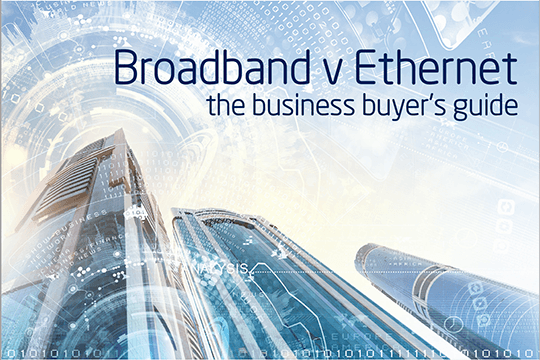 Front cover of the ADSL v Ethernet the Business Buyers Guide